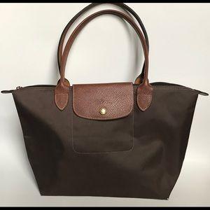 Small Longchamp Le Pliage Nylon Tote bag brown